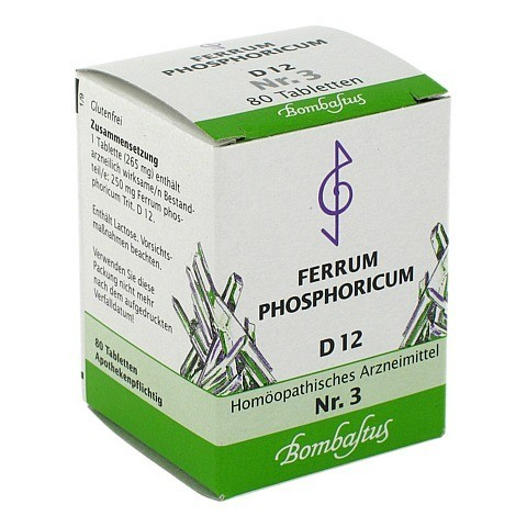 BIOCHEMIE 3 Ferrum phosphoricum D 12 Tabletten 80 Stück N1