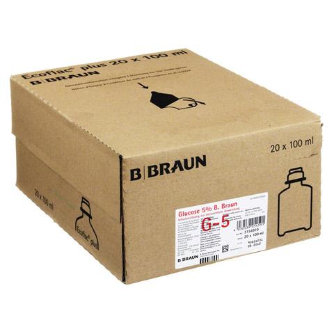 GLUCOSE 5% B.Braun Ecoflac Plus 20x100 Milliliter N3