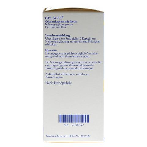 GELACET Gelatinekapseln mit Biotin 320 St�ck - Linke Seite