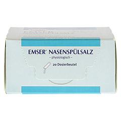 EMSER Nasenspülsalz physiologisch Btl. 20 Stück - Oberseite