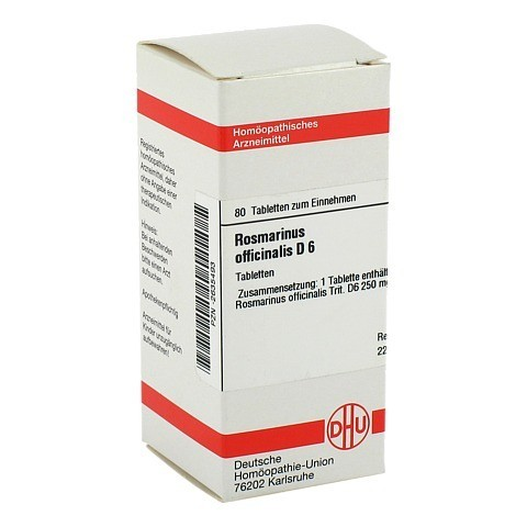 ROSMARINUS OFFICINALIS D 6 Tabletten 80 St�ck N1