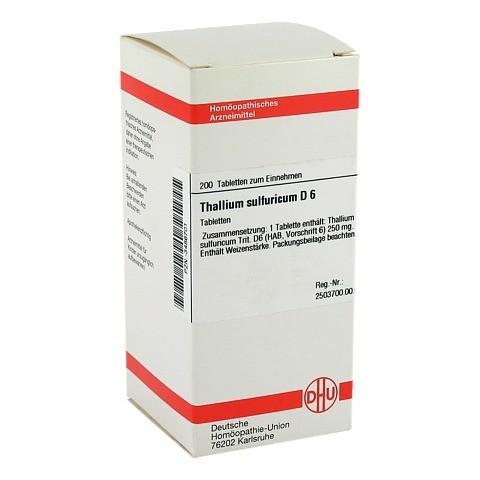 THALLIUM SULF. D 6 Tabletten 200 St�ck N2