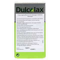 Dulcolax 100 Stück N3 - Rückseite