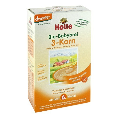 HOLLE Bio Babybrei 3 Korn 250 Gramm