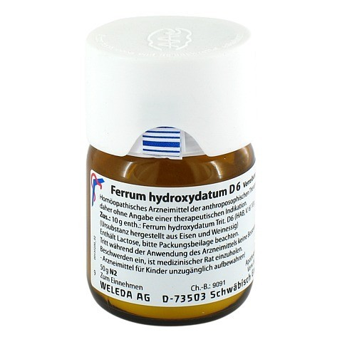 FERRUM HYDROXYDATUM D 6 Trituration 50 Gramm N2