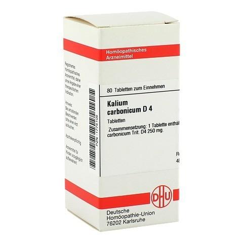 KALIUM CARBONICUM D 4 Tabletten 80 St�ck N1