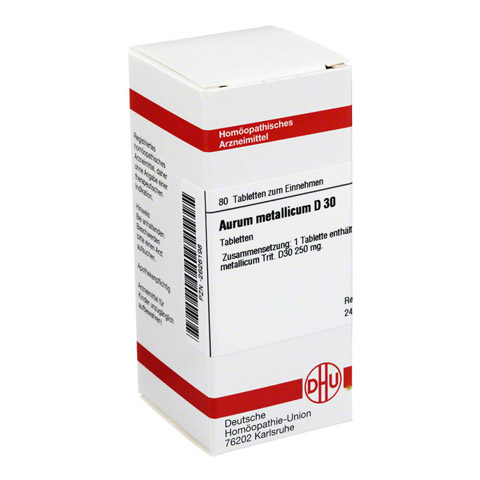 AURUM METALLICUM D 30 Tabletten 80 Stück
