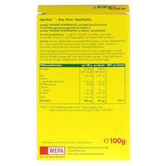 APODAY hei�er Winterapfel Vitamin C Pulver 10x10 Gramm - R�ckseite