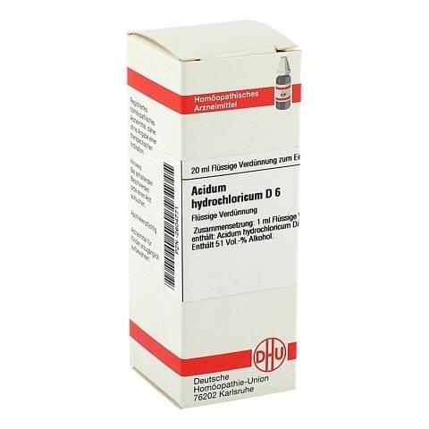 ACIDUM HYDROCHLORICUM D 6 Dilution 20 Milliliter N1