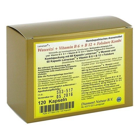 WUWEIZI+Vitamin B6+B12+Folsäure Kombi Kapseln 120 Stück N1