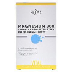 MAGNESIUM 300+Vitamin E Prima Vital Brausetabl. 2x10 St�ck - Vorderseite