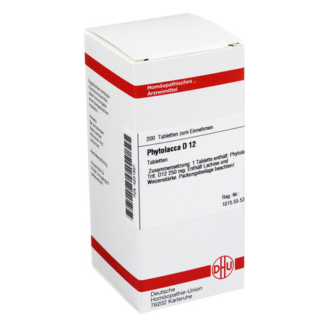 PHYTOLACCA D 12 Tabletten 200 Stück N2