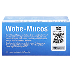 WOBE-MUCOS magensaftresistente Tabletten 120 Stück - Oberseite