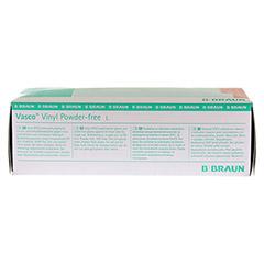 VASCO Vinyl powderfree Handschuhe unsteril Gr.L 100 St�ck - Vorderseite