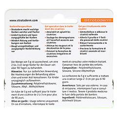 STRATADERM Narbentherapeutikum Gel 5 Gramm - R�ckseite