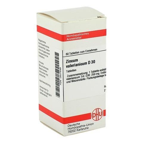 ZINCUM VALERIANICUM D 30 Tabletten 80 Stück