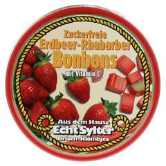 ECHT SYLTER Erdbeer/Rhabarber Bonbons zuckerfr. 70 Gramm