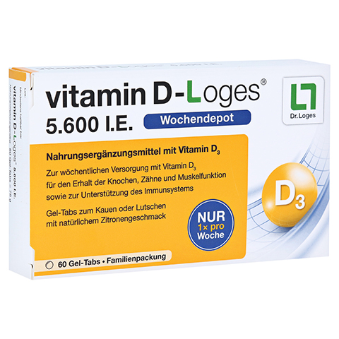VITAMIN D-Loges 5.600 I.E. Kautabl.Familienpackung 60 Stück