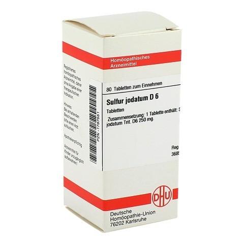 SULFUR JODATUM D 6 Tabletten 80 Stück N1