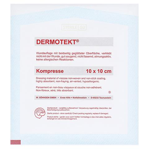 DERMOTEKT Kompresse V 10x10 cm 1 Stück