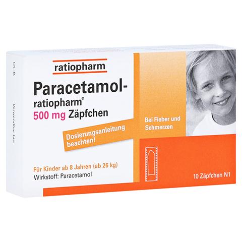 Paracetamol-ratiopharm 500mg 10 St�ck N1