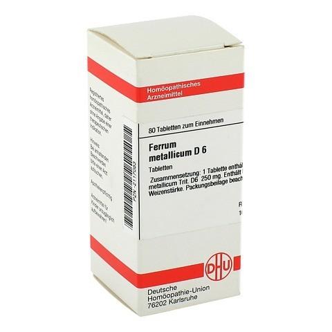 FERRUM METALLICUM D 6 Tabletten 80 St�ck N1