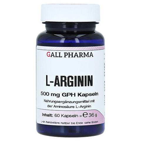 L-ARGININ 500 mg GPH Kapseln 60 St�ck