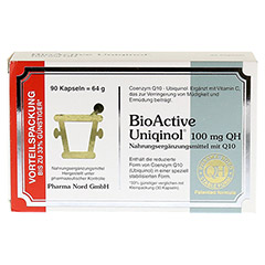 BIOACTIVE Uniqinol 100 mg QH Pharma Nord Kapseln 90 St�ck - Vorderseite