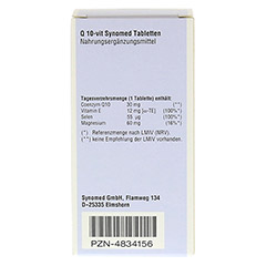 Q10 VIT Synomed Tabletten 30 St�ck - R�ckseite