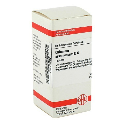CHININUM ARSENICOSUM D 6 Tabletten 80 St�ck N1