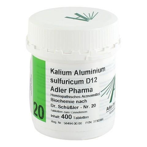 BIOCHEMIE Adler 20 Kalium aluminium sulf.D 12 Tab. 400 Stück