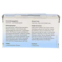 HALLUFIX softies Hammerzehenpolster Gr.M 36-41 2 St�ck - R�ckseite