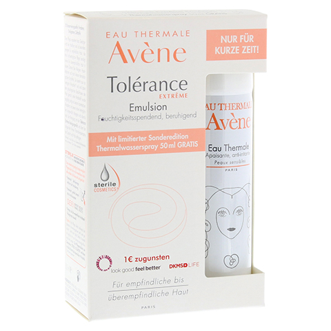 AVENE Tolerance Extreme Emulsion+Th. Spray 50ml Gratis 1 Packung