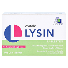 L-LYSIN 750 mg Tabletten 90 St�ck - Vorderseite
