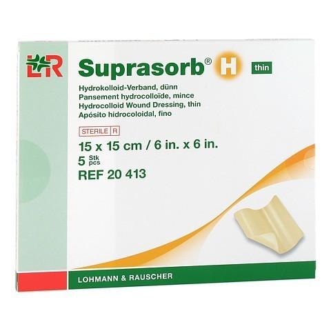 SUPRASORB H Hydrokoll.Verb.d�nn 15x15 cm 5 St�ck