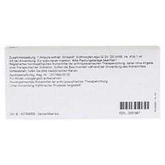 ERYTHROCYTEN GL D 5 Ampullen 10x1 Milliliter N1 - R�ckseite