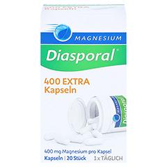 MAGNESIUM DIASPORAL 400 Extra Kapseln 20 Stück - Vorderseite