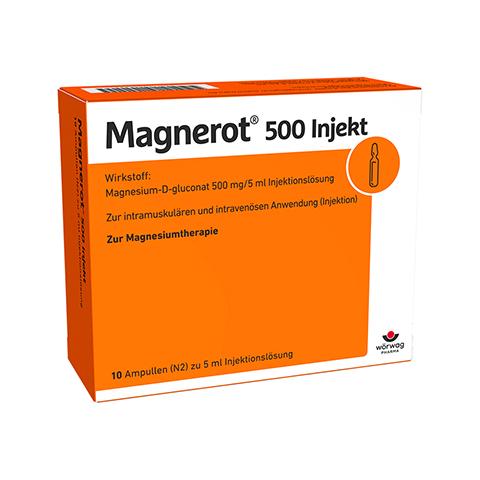 MAGNEROT 500 Injekt Ampullen 10x5 Milliliter N2