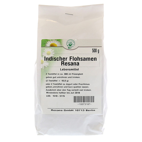 INDISCHER Flohsamen Resana 500 Gramm