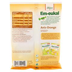 EM EUKAL Bonbons Anis Orange zuckerhaltig 75 Gramm - Rückseite