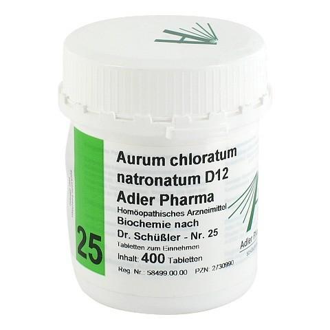 BIOCHEMIE Adler 25 Aurum chloratum natr.D 12 Tabl. 400 Stück