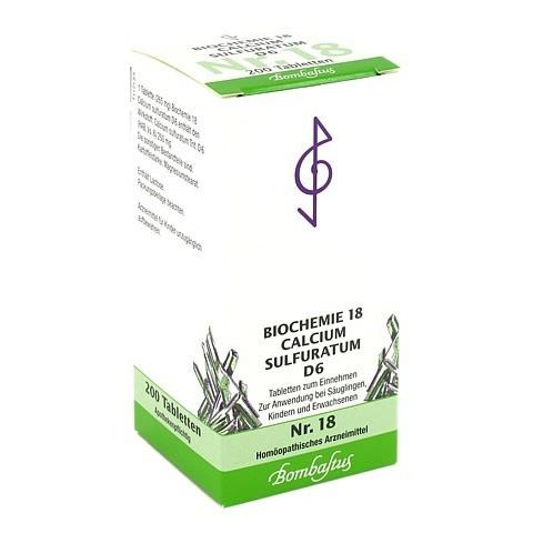 BIOCHEMIE 18 Calcium sulfuratum D 6 Tabletten 200 Stück N2