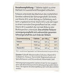 FOLSÄURE 400 Plus B12+Jod Tabletten 120 Stück - Rückseite