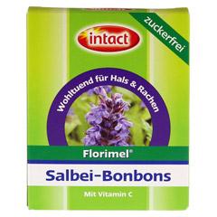 FLORIMEL Salbeibonbons m.Vitamin C zuckerfrei 40 Gramm - Vorderseite