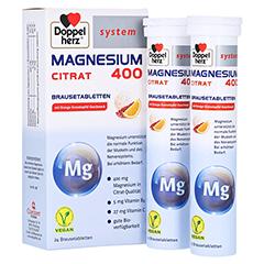 DOPPELHERZ Magnesium 400 Citrat system Brausetabl. 24 St�ck