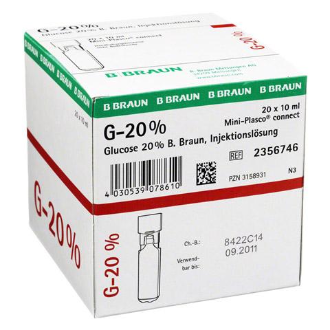 GLUCOSE 20% B.Braun Mini Plasco connect Inj.-Lsg. 20x10 Milliliter N3