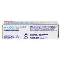 MERIDOL sanftes Weiss Zahnpasta 20 Milliliter - Unterseite