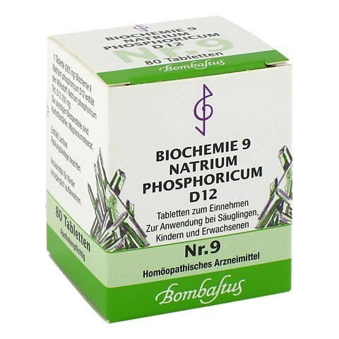 BIOCHEMIE 9 Natrium phosphoricum D 12 Tabletten 80 Stück N1