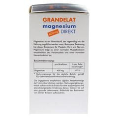 MAGNESIUM DIREKT 400 mg Grandelat Pulver 40 St�ck - Linke Seite