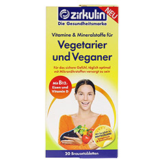 ZIRKULIN Vitamine u.Mineralst.f.Vegetarier+Veganer 20 Stück - Vorderseite
